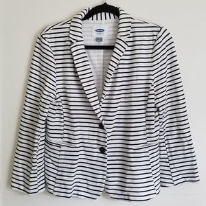 Old Navy Striped Button Blazer